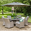 Thumbnail: Lyon 6 Seat Dining Set with Deluxe 3.0m Parasol