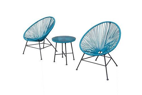 Woven Blue Moon Chair Set