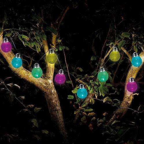 10 Crackle Glove String Lights - solar
