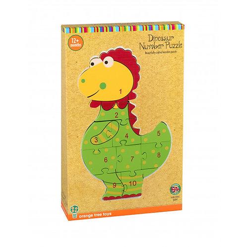 Orange Tree Toys - Dinosaur Number Puzzle