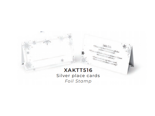 TS SILVER & WHITE PLACECARD