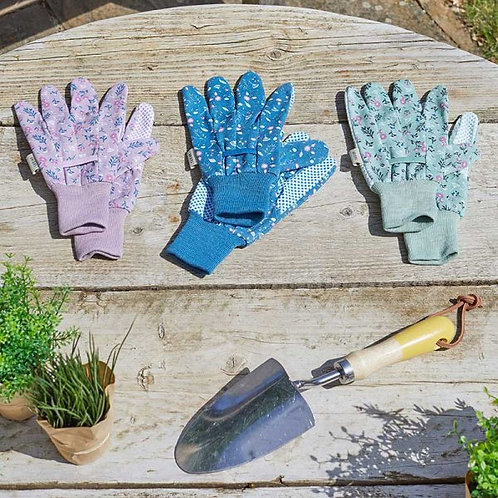 Briers Gloves - Flowerfield Cotton Grips (triple pack)