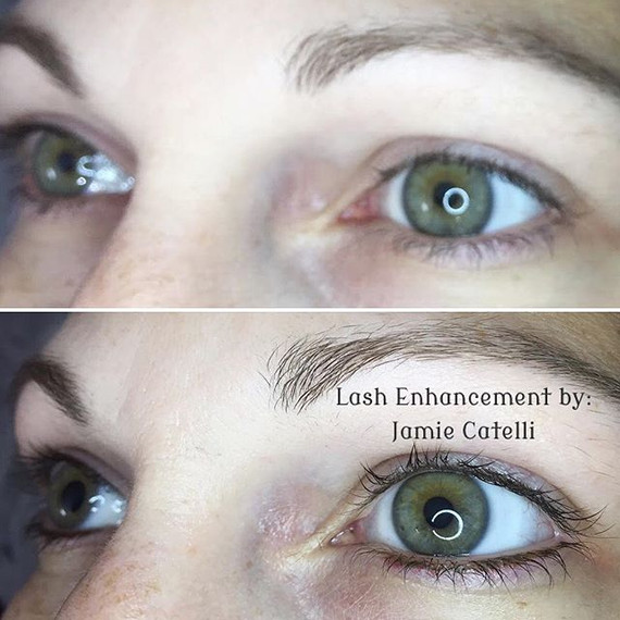 Who said Permanent Eyeliner has to be harsh_! Love this beautiful, natural look! Lash Enhancements give the illusion of fuller lashes and ma