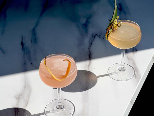 Pineapple Daiquiri and Pink Grapefruit Daiquiri at The Gin Kitchen