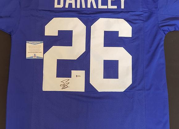 Saquon Barkley - New York Giants - Signed Custom Jersey