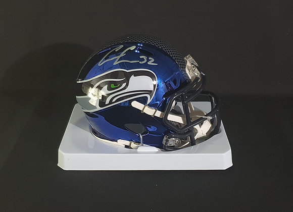 Chris Carson - Seattle Seahawks - Mini Chrome Helmet