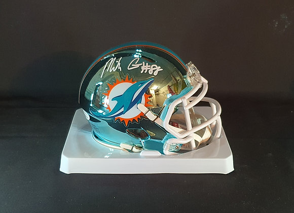 Mike Gesicki - Miami Dolphins - Mini Chrome Helmet