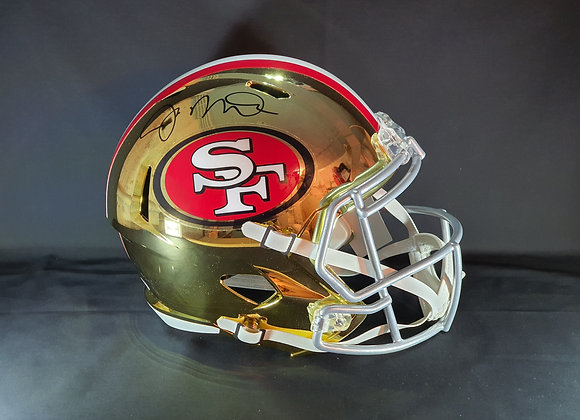 Joe Montana - San Francisco 49ers - Full Size Chrome Helmet