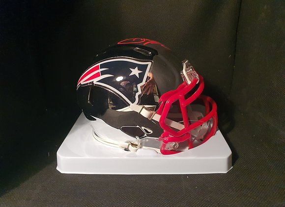 Julian Edelman - New England Patriots - Mini Chrome Helmet