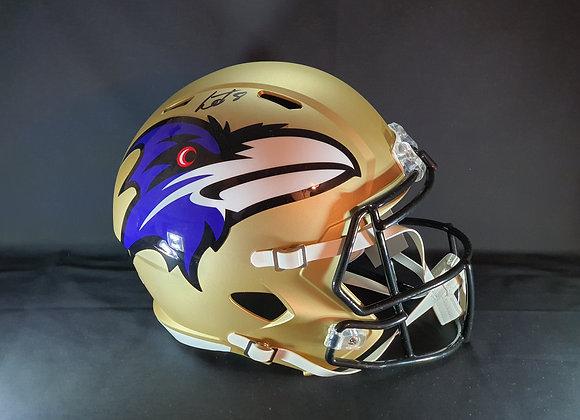 Lamar Jackson - Baltimore Ravens - Full Size AMP Helmet