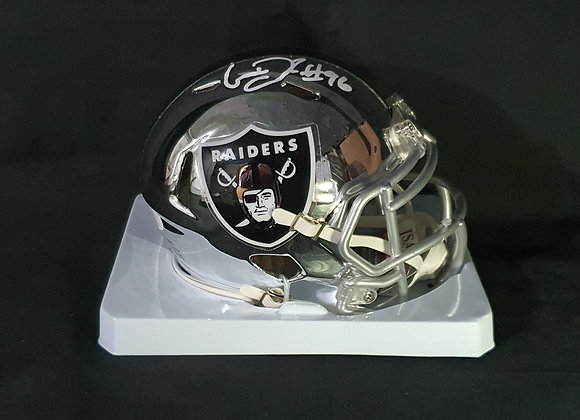 Clelin Ferrell - Las Vegas Raiders - Mini Chrome Helmet