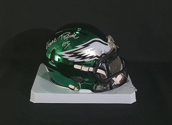 Vince Papale - Philadelphia Eagles - Mini Chrome Helmet