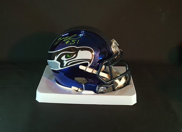 Bruce Irvin - Seattle Seahawks - Mini Chrome Helmet