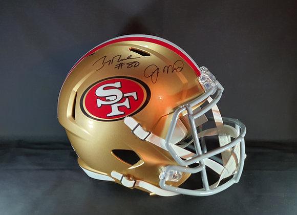 Jerry Rice & Joe Montana - San Francisco 49ers - Full Size Speed Helmet