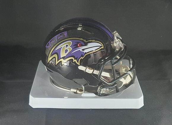 Justin Tucker - Baltimore Ravens - Mini Chrome Helmet