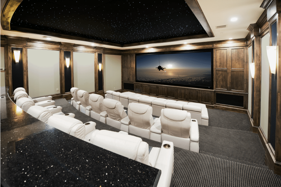 Home Theater White