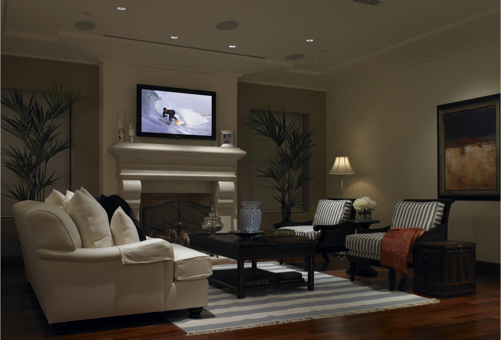 Fireplace TV - Traditional