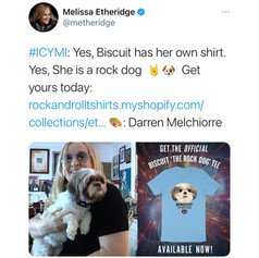 Biscuit The Rock Dog T-Shirt