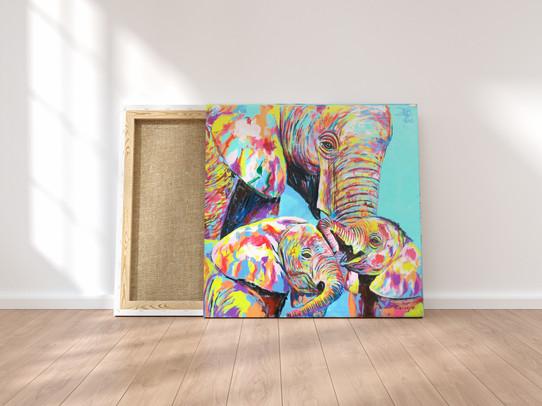 Original acrylic painting by  Eric Mathenge
