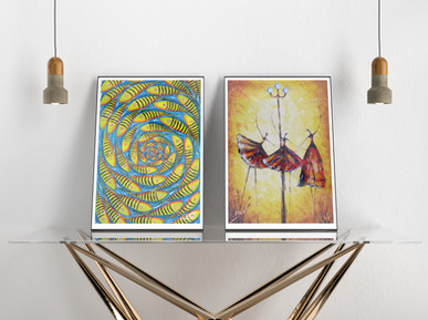 Two original paintings by Nzamba & Dius - members of The Mathenge School of Art.