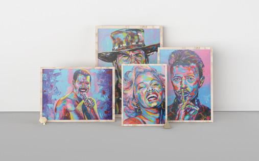 Famous faces - A series of original acrylic portrait paintings by Eric Mathenge