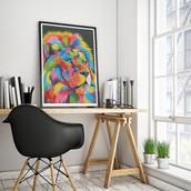 Original framed acrylic painting by Eric Mathenge