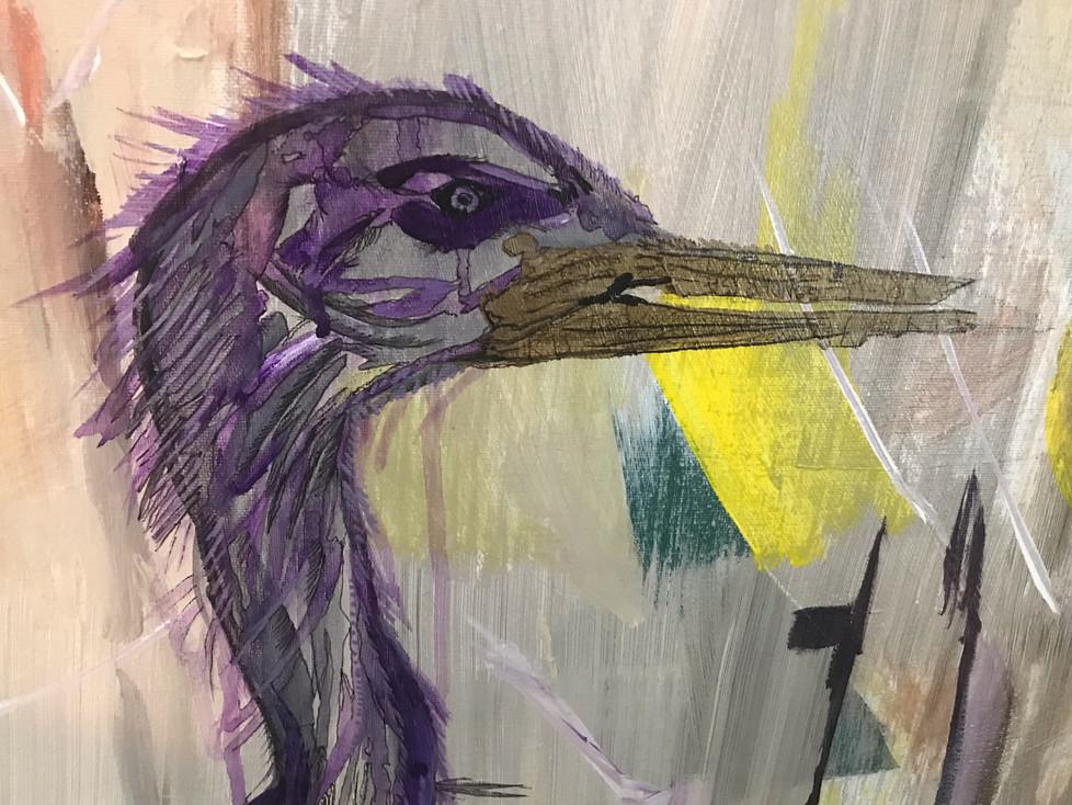 Dancing Prairie Heron 2019 - Detail Fine