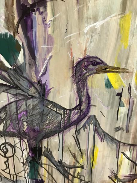 Dancing Prairie Heron 2019 - Detail Mid