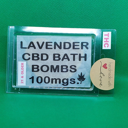 Organic Lavender Bath Bombs 100mg