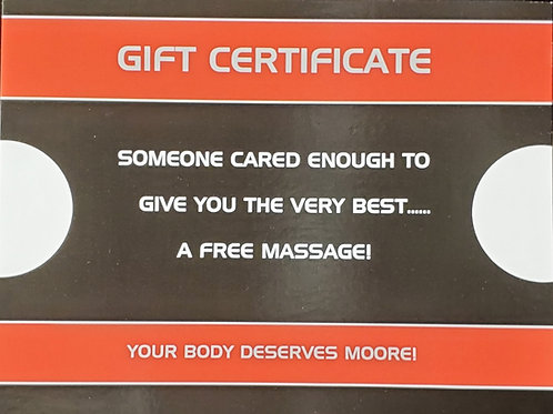 90 Minute Massage Gift Card