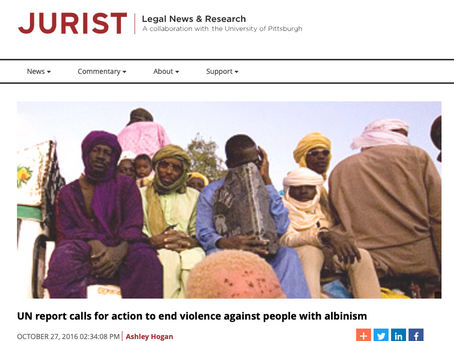 Jurist | UN report calls for action to end violence against people with albinism