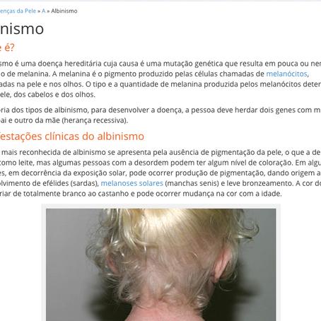 Dermatologia.net | Albinismo
