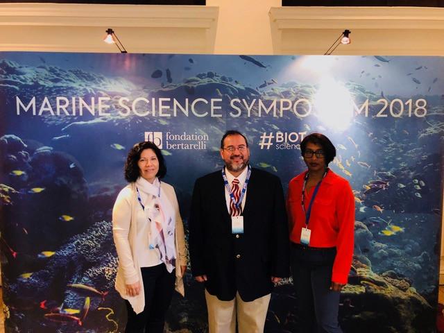 (L-R) Dr. Elma Kay, Mr. Valdemar Andrade and Dr. Leandra Cho-Ricketts