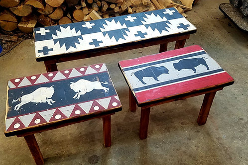 Tribal Benches and Tables