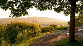 Blick auf die schöne Stadt Winterthur