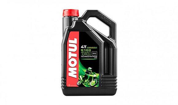 Motul 5100 4T 15W-50 4 Stroke Motorcycle Motorbike 15W50 Engine Oil 4 Litres 4L