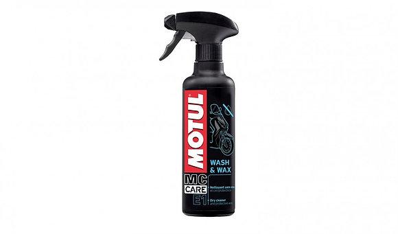 Motul E1 Wash & Wax Dry Cleaner & Protective Wax 400ml Trigger Spray