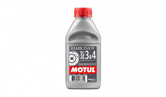 Motul DOT 3 & 4 Motorcycle Brake Fluid Fully Synthetic 500ml