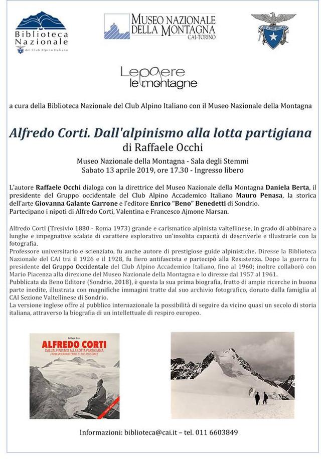 La biografia di Alfredo Corti alla Biblioteca Nazionale CAI