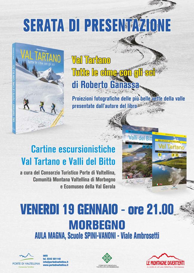 """""""Val Tartano. Tutte le cime con gli sci""""  A Morbegno la presentazione del libro di Roberto"""