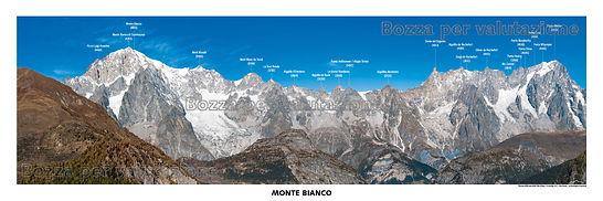 monte bianco e grandes jorasses testata panoramica