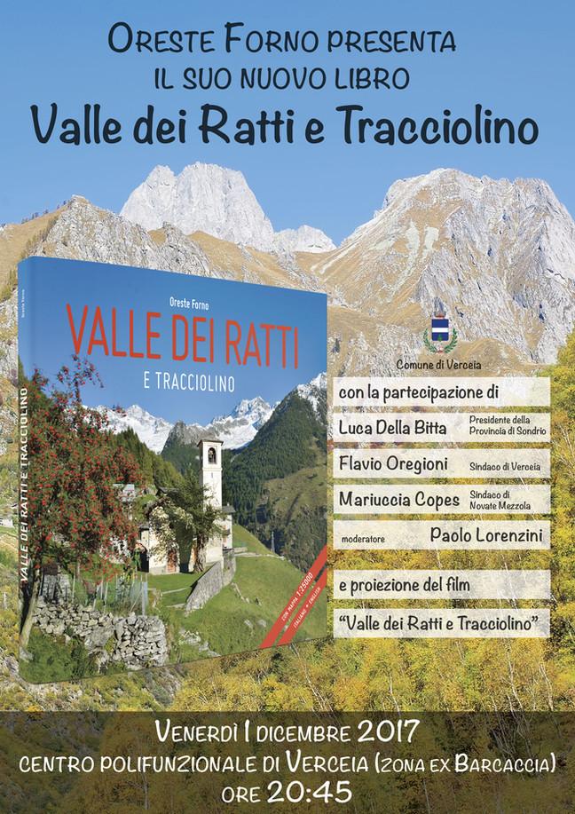 """Oreste Forno presenta il suo nuovo libro """"Valle dei Ratti e Tracciolino"""""""