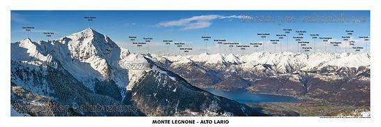 Legnone - alto lario - lago di como - muncech testata panoramica