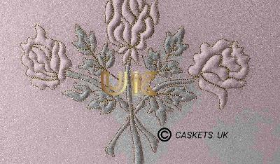 Zenith Metal Casket Rose Design