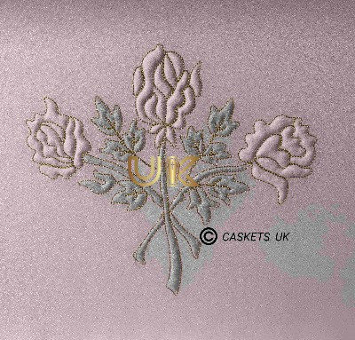 Zenith Metal Casket Rose Design