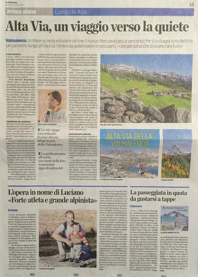Escursionismo culturale alla scoperta della Valmalenco