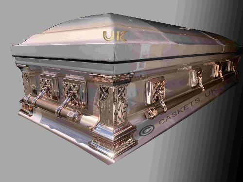 Zenith Metal Casket Front and Side View