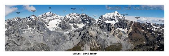 Il massiccio Ortles - Gran Zebrù dal monte Confinale