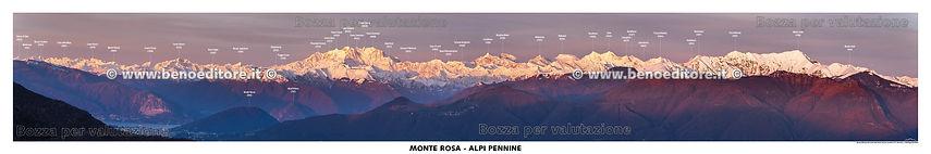 testatapanoramica del monte rosa e delle alpi lepontine - lago maggiore