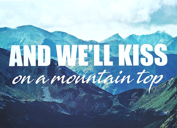 Kiss on a mountain top